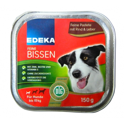 Edeka Feine Bissen Rind&Leber 150g/22