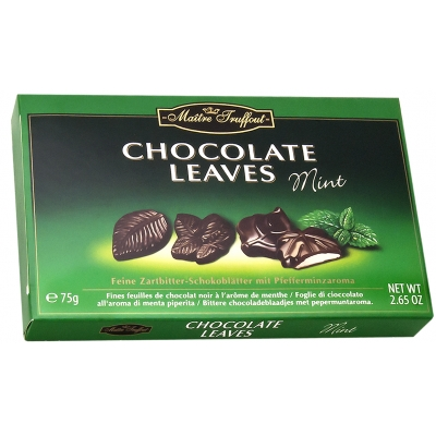 Maitre Chocolate Leaves Mint 75g