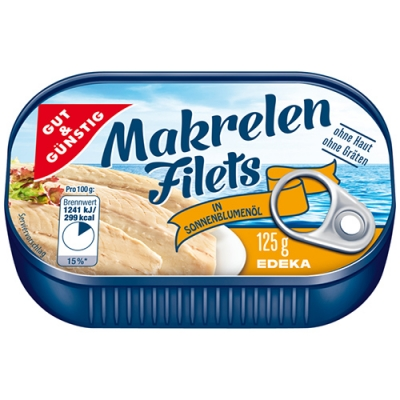 G&G Makrelen Filets 125g/10